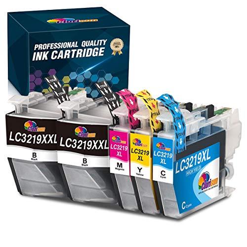 Clorisun LC3219XL Druckerpatronen Kompatible für Brother LC-3219 LC 3219 3219 XL LC3217 LC-3217 Patronen Ersatz für Brother MFC J5330DW J6930DW J6530DW J5335DW J5730DW J5930DW J6935DW(5er Pack)