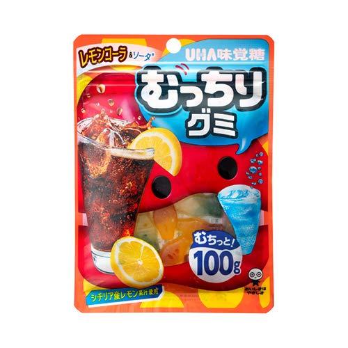 UHA味覚糖 むっちりグミ レモンコーラ&ソーダ 100g 6コ入り