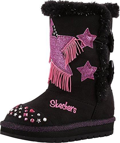 SKECHERS KIDS Baby Girls Keepsake 10662N Lights (Toddler) Black/Hot Pink Boot 7 Toddler M