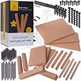 MALUVRIAN Arts and Crafts for Kids Extra Foam Wood Kit with 18 Pieces of Foam Wood Screws and Nails Kids Tool Set Building Toys Creative Educational Learning Toys STEAM STEM Toys for Boys and Girls