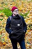 manduca by MaM Tragecover für alle Jahreszeiten/ 4-Season Softshell Deluxe Cover FLEX (winddicht & wasserfest) Fleece-Innenfutter (zweilagig), Abnehmbare Kapuze/Babymütze (Heather Grey/hellgrau)