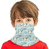 PGTry - Pañuelo multiusos para niños y niñas, protección UV, protector para la cara, cuello, pasamontañas para verano, ciclismo, senderismo, deportes, actividades al aire libre, algas marinas en la corriente pequeña