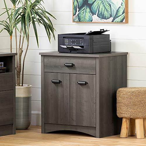 South Shore Gascony Printer Cabinet-Gray Maple