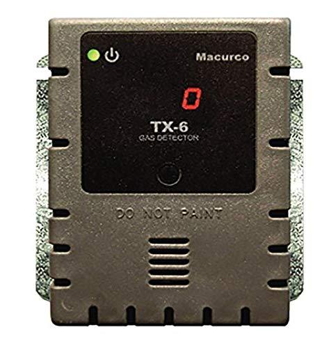 Macurco TX-6-AM Amoníaco NH3 (bajo voltaje) controlador de detector de gas fijo transdu