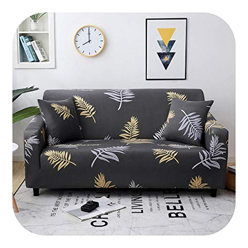 Sukyy 1/2/3/4-seater Arm Chair Cover Sofa Slipcover for Living Room Stretch Sofa Covers Furniture Protector Polyester Couch Cover-B2-1seat 90-140cm