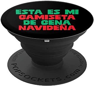 Esta Es Camiseta De Cena Navidena Funny Xmas Holiday Humor PopSockets Grip and Stand for Phones and Tablets