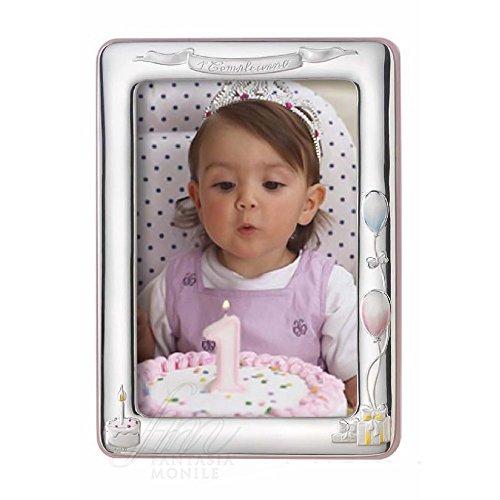 Fotolijsten Bimba Primo verjaardag roze zilver afmeting 12 x 17 Acca 18LM.5