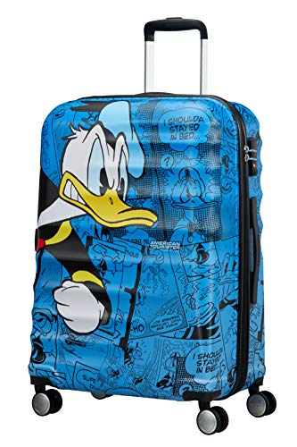 American Tourister - Disney Wavebreaker - Spinner 67/24 Hand Luggage, 67 cm, 64 liters, Multicolour (Donald Duck)