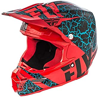 Fly Racing 2018 F2 Carbon Helmet - Fracture  Small   Black/RED/Light Blue
