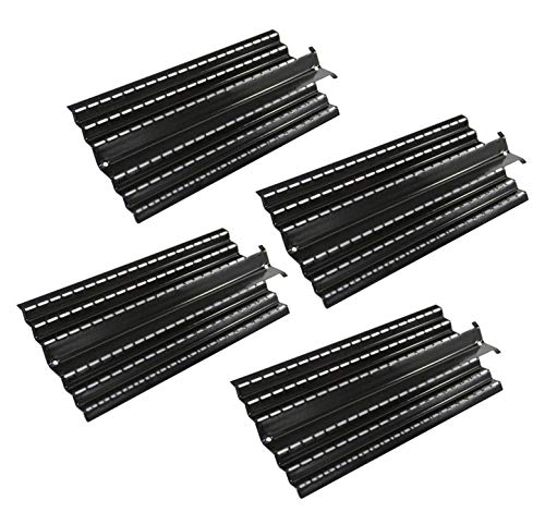 Hongso Porcelain Steel Heat Plates Shield Replacement Parts for Charbroil 464224411 466224411, Kenmore 415.16135110 Gas Grill, Flame Tamer G524-0032-W1, 16 Inch Grill Heat Tent, PPC0044 (4 Pack)