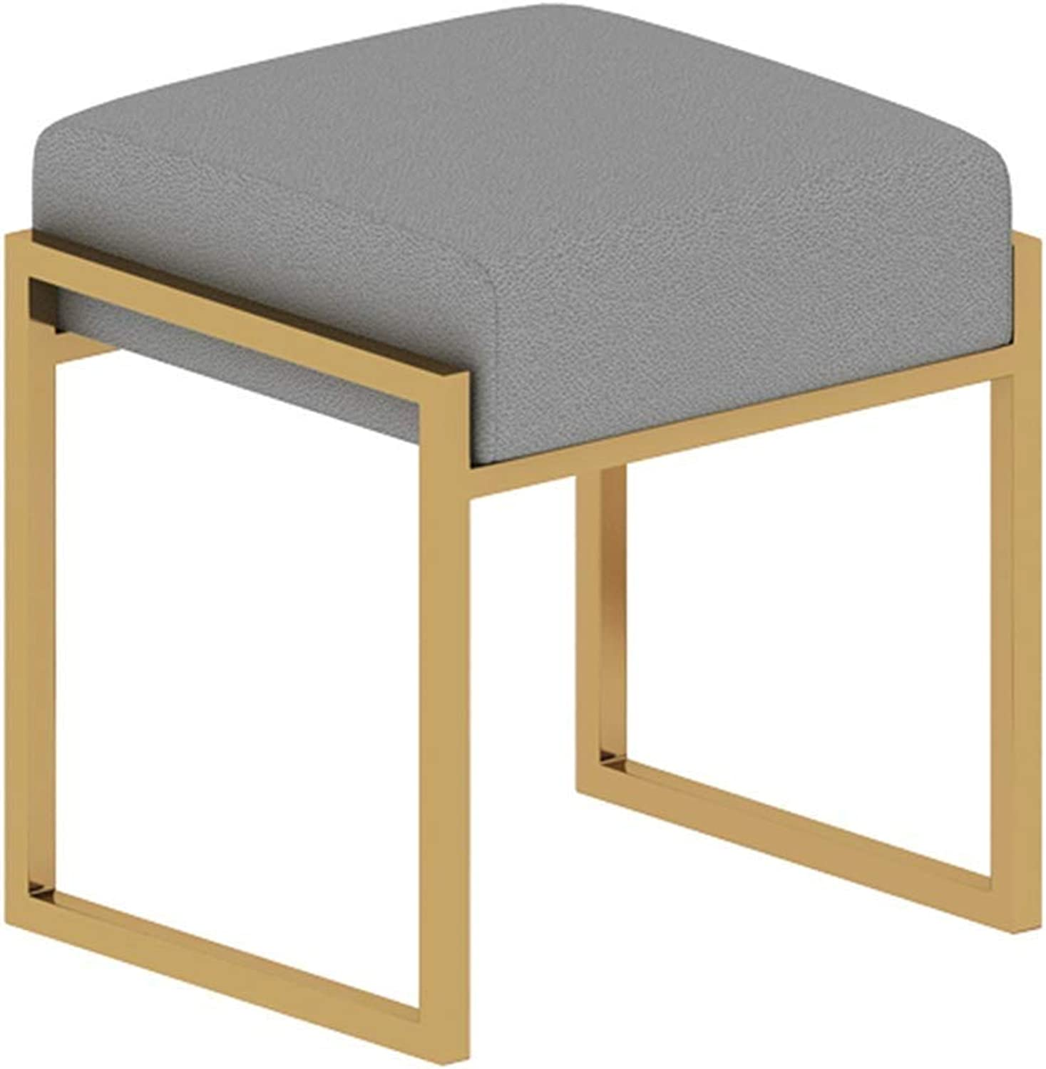 Metal Cloth Doorway Change shoes Bench Simple Bedroom Dressing Stool, 8 colors GFMING (color   G, Size   370x425x450mm)