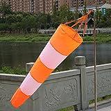 [page_title]-Fastar Windsack, wetterfest, aus Ripstop-Gewebe, mit reflektierenden Streifen, zur Windmessung am Flughafen (80 cm)