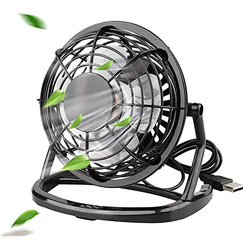 solawill Mini Ventilador USB Silencioso, Ventilador de Mesa Potente USB Fan con Ajustable 360 Grados de Rotación para Personal Portátil de Escritorio Hogar Oficina o Viaje, 4 Pulgadas