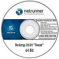 "Netrunner 20.01 Desktop ""Twenty"" (64Bit) - Bootable Linux Installation DVD"