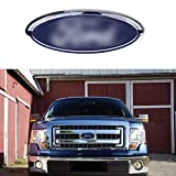 For Ford Emblem, Dark Blue 9 Inch Grille Emblem Front Tailgate Badge Replacement Emblems for F-150 2004 to 2014, F-250/F-350 2005 to 2007, Explorer 2011 to 2016, Edge 2011 to 2014, EXPEDITION, RANGER