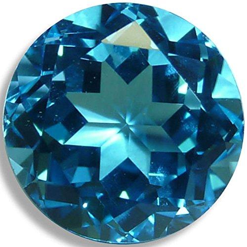 OptimaGem Swiss Blue Topaz Round 3mm-12mm Loose Gemstones (5mm)