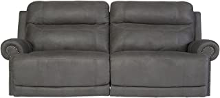 Ashley Furniture Signature Design - Austere Recliner Sofa - 1 Touch Power Reclining Couch - Contemporary - Gray