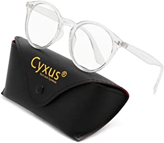 Cyxus Reading Glasses for Men/Women, Blue Light Filter Glasses for Anti Eye Fatigue Headache(Black,3.0)