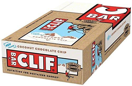 Clif Bar Energiereicher Haferriegel mit Kokos und Schokostückchen (mit 12 Stück), 816 ml