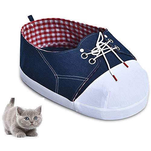 Haustier Katze Nest/Welpe Nest, Kreativer Schuh Styling Mit Plüsch-Pad Cat Nest Cat Wohnung Haustier-Spielzeug Indoor-Spiel (59 * 36 * 18Cm)