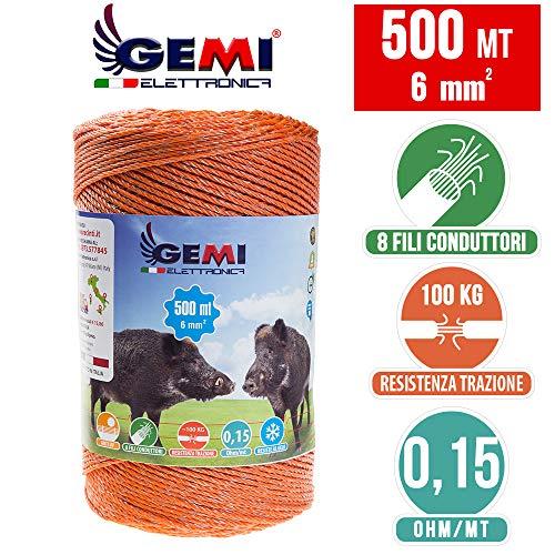 Weidezaun 500 Mt - 6 mm² - Gemi Elettronica - Elektrozaun für Schweine, Rinder, Wildschweine und Pferde