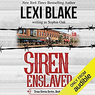 Siren Enslaved                   Written by:                                                                                                                                 Lexi Blake writing as Sophie Oak                               Narrated by:                                                                                                                                 C. J. Bloom,                                                                                        Ryan West                      Length: 10 hrs and 18 mins     Not rated yet     Overall 0.0