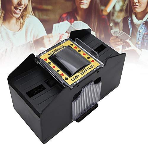 Máquina barajadora de cartas barajadora automática de 4 barajas para póquer de 1 a 4 barajas para barajadora eléctrica de cartas para juegos de cartas caseros, póker, rummy