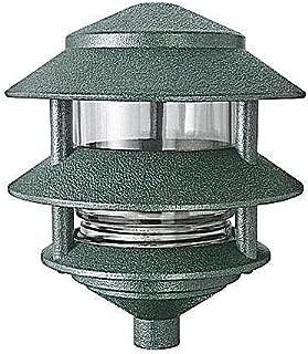 RAB Lighting LL322VG 3 Tier Lawn Path Fixture, A-19 Type, 75W Power, 1220 Lumens, 120VAC, Verde Green