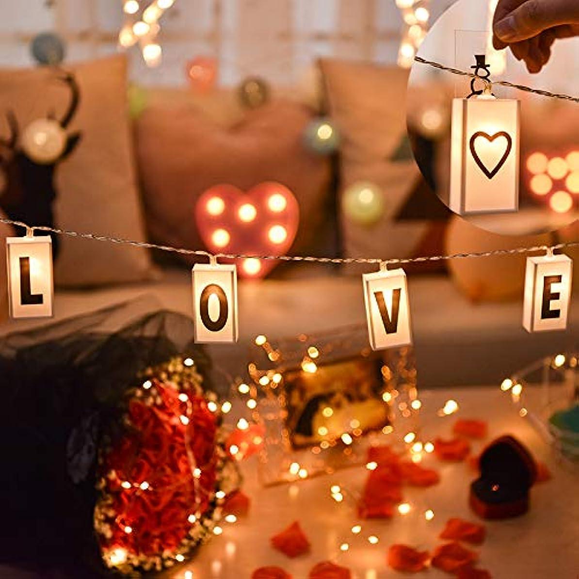 文化落花生フットボールV-Dank LED ストリング ライト イルミネーション DIY アルファベット 20電球 3M ボックス 装飾 電飾 吊り下げる 飾りライト 雰囲気 ガーランド クリスマス/新年/結婚式/誕生日/祝日/バレンタインデー/パーティー/ホームイベント/インテリア 電池式 ウォームホワイト