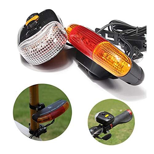 N\A Moto Juego de Luces, 7 LED indicador de Vuelta del Ciclo Claxon luz de Freno Advertir 3-en-1