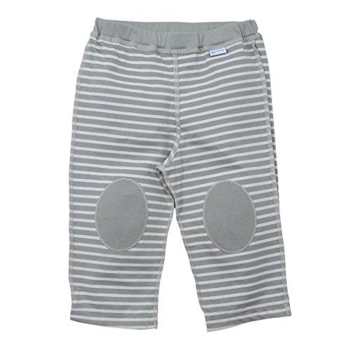 i play. Pantalon de Yoga en Coton Bio Gris Rayure 12-18 Mois