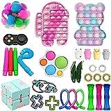 Fidget Toys Pack, Fidget Toy Sets Fidget Pack Barato, Simple Dimple Fidget, Push Bubble Fidget Juguete Sensorial Para Niños (A02)
