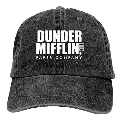 YISHOW Dunder Mifflin Inc. Men & Women Adjustable Unisex Snapback Jeans Trucker Hat Cap Black