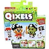 Mini Kit 4 Créations Qixels - Thème Pirates - Asmokids - Loisirs créatifs - Jeu Garçons