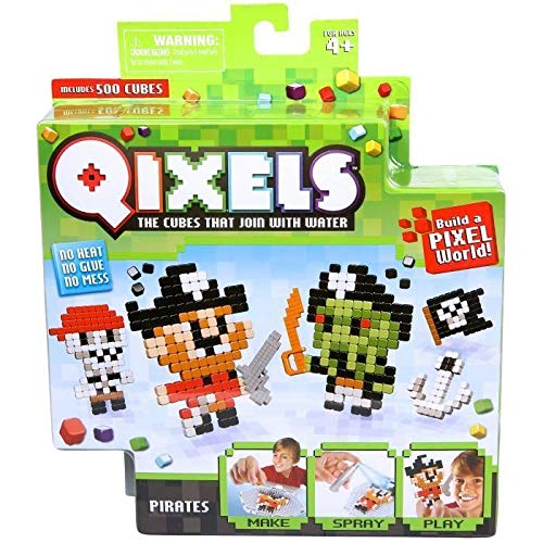 Mini Kit with 4 Qixels Pirate Creations - Asmokids Theme - Arts and Crafts - Boys Game