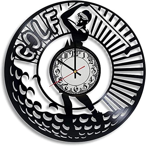 GVSPMOND Reloj de Pared con Disco de Vinilo Reloj de Pared con Registro Deportivo de Golf Accesorios de Golf Accesorios de Golf de Arte Regalos para Cualquier ocasión