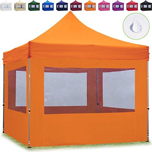 TOOLPORT Faltpavillon Faltzelt 3x3m - 4 Seitenteile ALU Pavillon Partyzelt orange Dach 100{2099056c3033756be6855769633298a2eb063c5ef0298426a457fa3b7fa97b05} WASSERDICHT