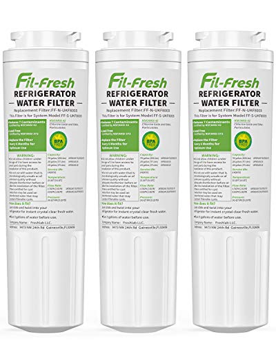 Fil-fresh UKF8001 Refrigerator Water Filter Replacement Compatible with Every Drop Filter 4, Maytag UKF8001AXX, EDR4RXD1, Whirlpool 4396395, UKF8001P, Puriclean II, 3 Pack