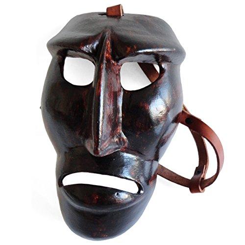 Satodà - Mamuthones: Maschera del carnevale di Mamoiada (Nuoro). Artigianale, legno e cuoio.