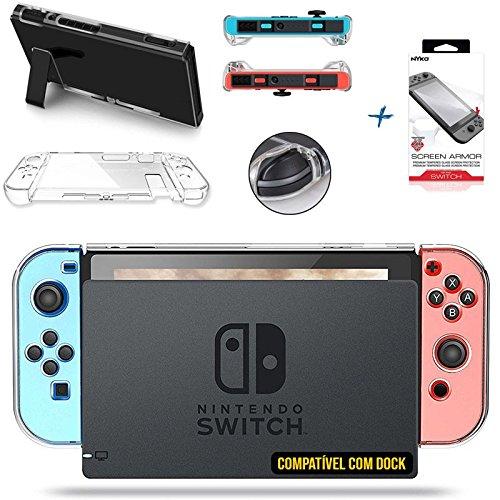 Kit Case Nintendo Switch de Acrílico compatível com Dock + Película