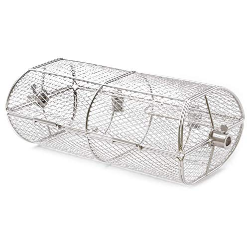 only fire Universal Stainless Steel Rotisserie Grill French Fries Basket Fits for Any Gas Grill