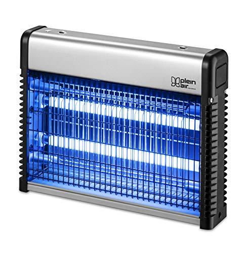 PLEIN AIR - Mosquitero eléctrico 16 A 2x 8vatios, de plástico Gris