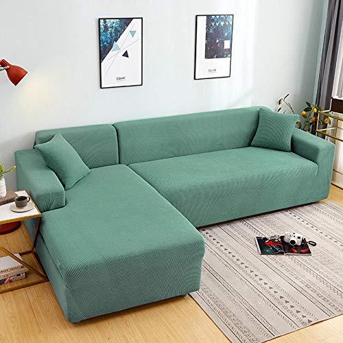 Funda para sofá-Funda para sofá-Funda para sofá Lavable-Funda para sofá para Perros con Banda elástica-Protector sofá para Mascotas-Funda para Muebles-Verde Claro_235-300cm
