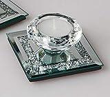 formano Teelichthalter Mirror Stones 1 Kerze H. cm 9x9cm aus Spiegel Glas W19