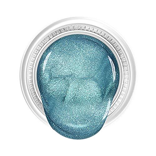 MagiDeal Líquida Sombra de Ojos Cremosa Brillantes, Pigmentos Compactos, Perfecto para Maquillaje de Ojos Ahumados - Cian