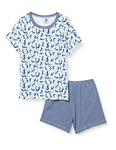 Petit Bateau 5906801 Pijama, Marshmallow/Multico, 12 años para Niñas