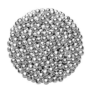 Perlas decorativas de azúcar plateadas, 5 mm, 45 g