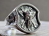 Viking Bague en Argent Sterling 925 Marteau de Thor Nordique Odin Celtique Bijoux Faits à la Main