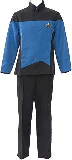 Allten Mens TNG Beverly Pulaski Medical Outfit Uniform Halloween Cosplay Costume