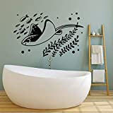 zqyjhkou Mundo Submarino Tatuajes de Pared Acuario de Peces Estilo Marino Decoración del hogar para niños Dormitorio Cuarto de baño Vivero Vinilo Ventana Pegatinas96x61cm